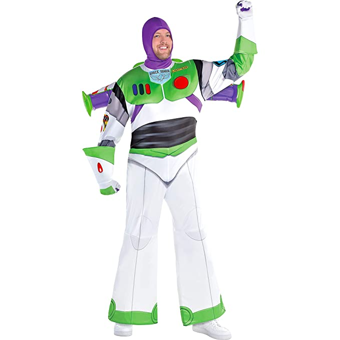 Party City Buzz Lightyear Halloween Costume for Men, Toy Story 4, Plus  Size, with Accessories