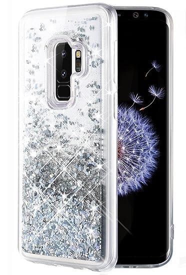 newest 79e57 cc3b4 Caka Galaxy S9 Plus Case, Galaxy S9 Plus Glitter Case [Liquid Series]  Luxury Fashion Bling Flowing Liquid Floating Sparkle Glitter TPU Bumper  Case for ...
