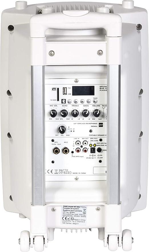 Ibiza Sound PORT8UHF-BT-WH - Sistema de audio portátil autónomo ...