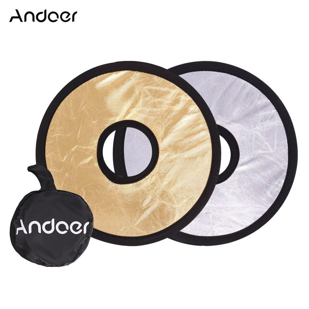 Andoer 90 Traslucidi per Photo Studio Photografia Bianco//Nero 60 cm 5in1 Multi Riflettore Ovale Portatile Pieghevole Oro//Argento