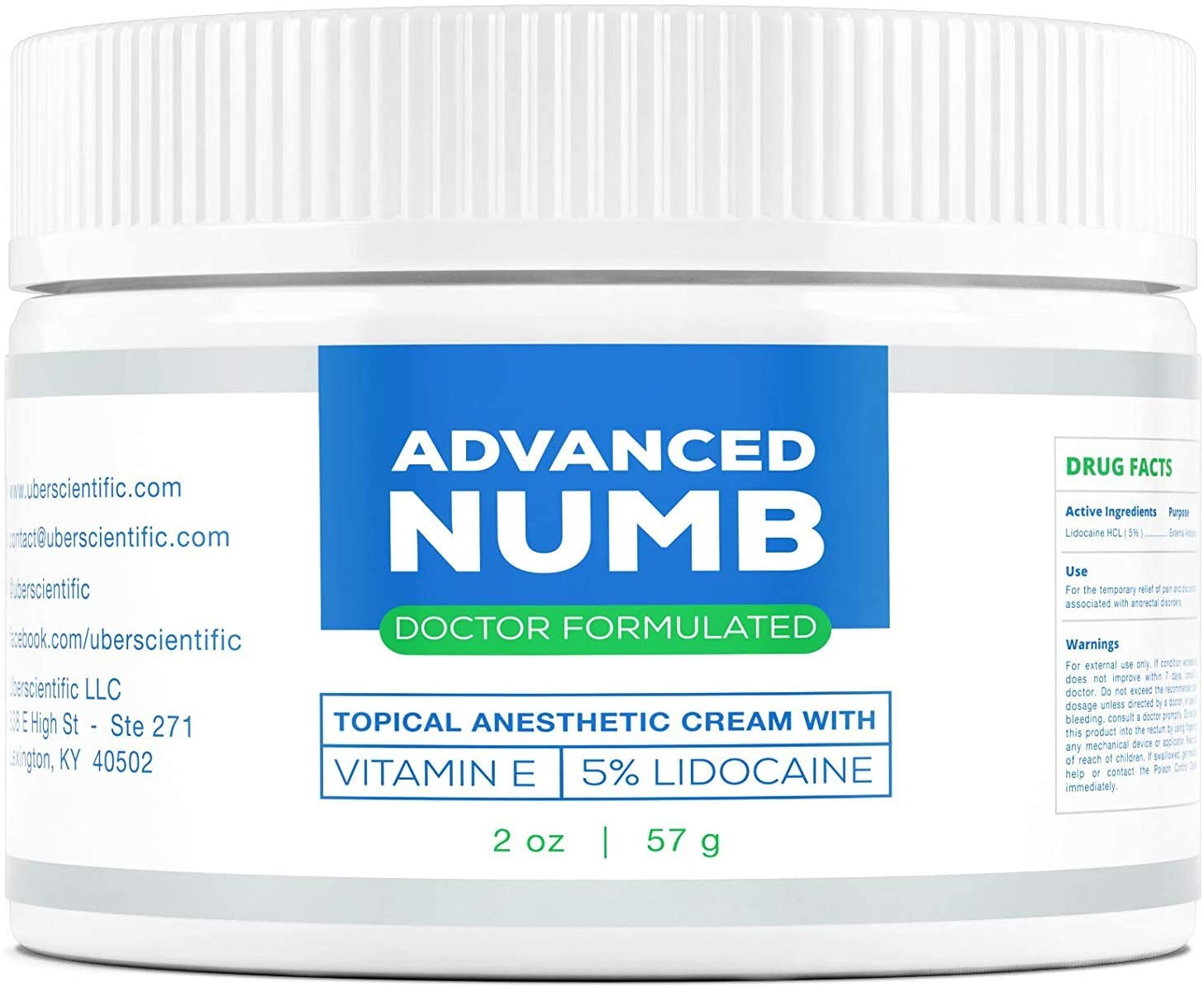 Advanced Numb 5% Lidocaine Pain Relief Cream