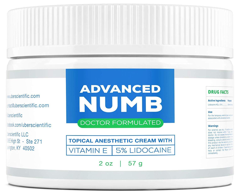 Advanced Numb (2 oz) 5% Lidocaine Pain Relief Cream, Lidocaine Ointment,  Numbing Cream,