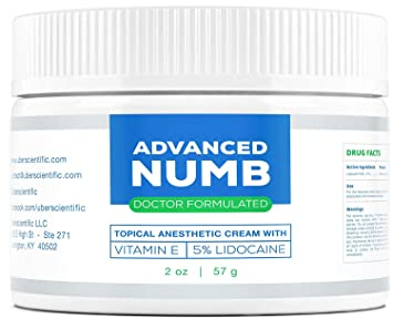 Advanced Numb (2 oz) 5% Lidocaine Pain Relief Cream, Lidocaine Ointment,  Numbing Cream,