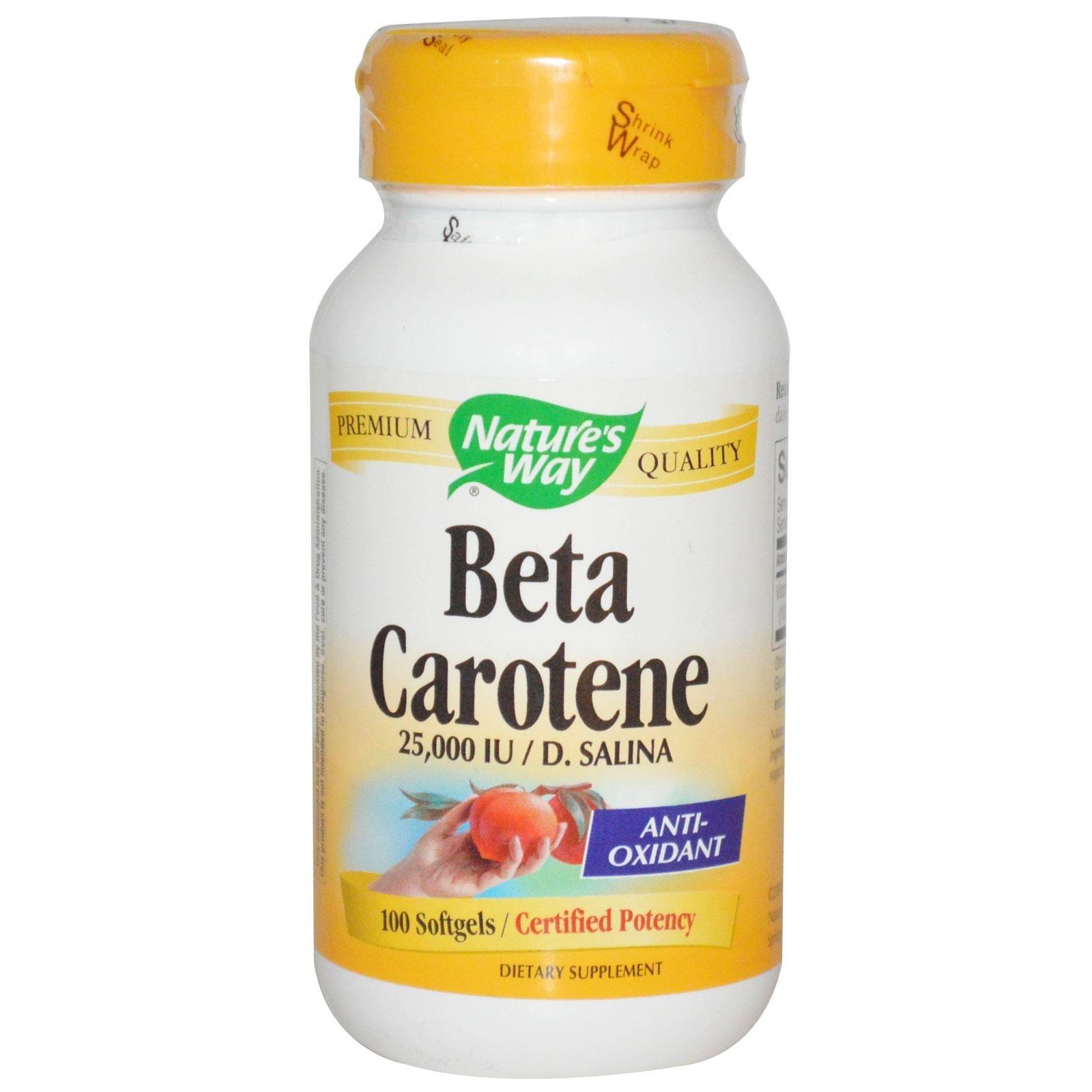 Beta Carotene 25,000 IU / D. Salina (100 softgels)