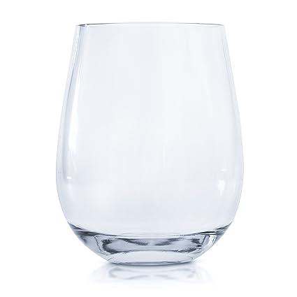 5d38dfe1580 Every Loft Stemless Unbreakable Wine Glass, Tritan Plastic, BPA-Free,  Dishwasher-Safe, 16-Ounce, Set of 4