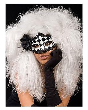Horror-Shop Veneziano blanco barroco de la peluca