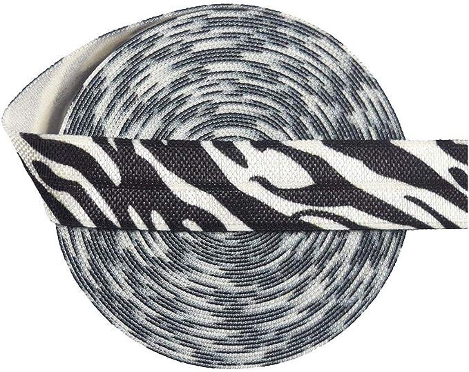 5 yards Zebra FOE Foldover Elastic Shiny Elastic Elastic by the yard Headband Hot Pink Zebra 58 Fold Over Elastic DIY