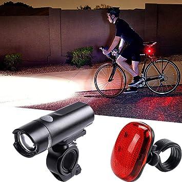 gaddrt bicicleta luces de bicicleta USB LED batería de ciclo de ...