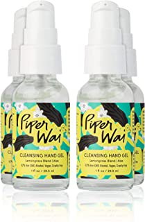 product image for PiperWai 62% Pure Ethanol Alcohol Cleansing Hand Gel, Portable Travel Size, Moisturizing with Soothing Aloe, Lemongrass Scent, 4 Pack