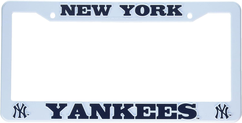 Rico New York Yankees Black Custom Plastic License Plate Frame Tag Cover Baseball