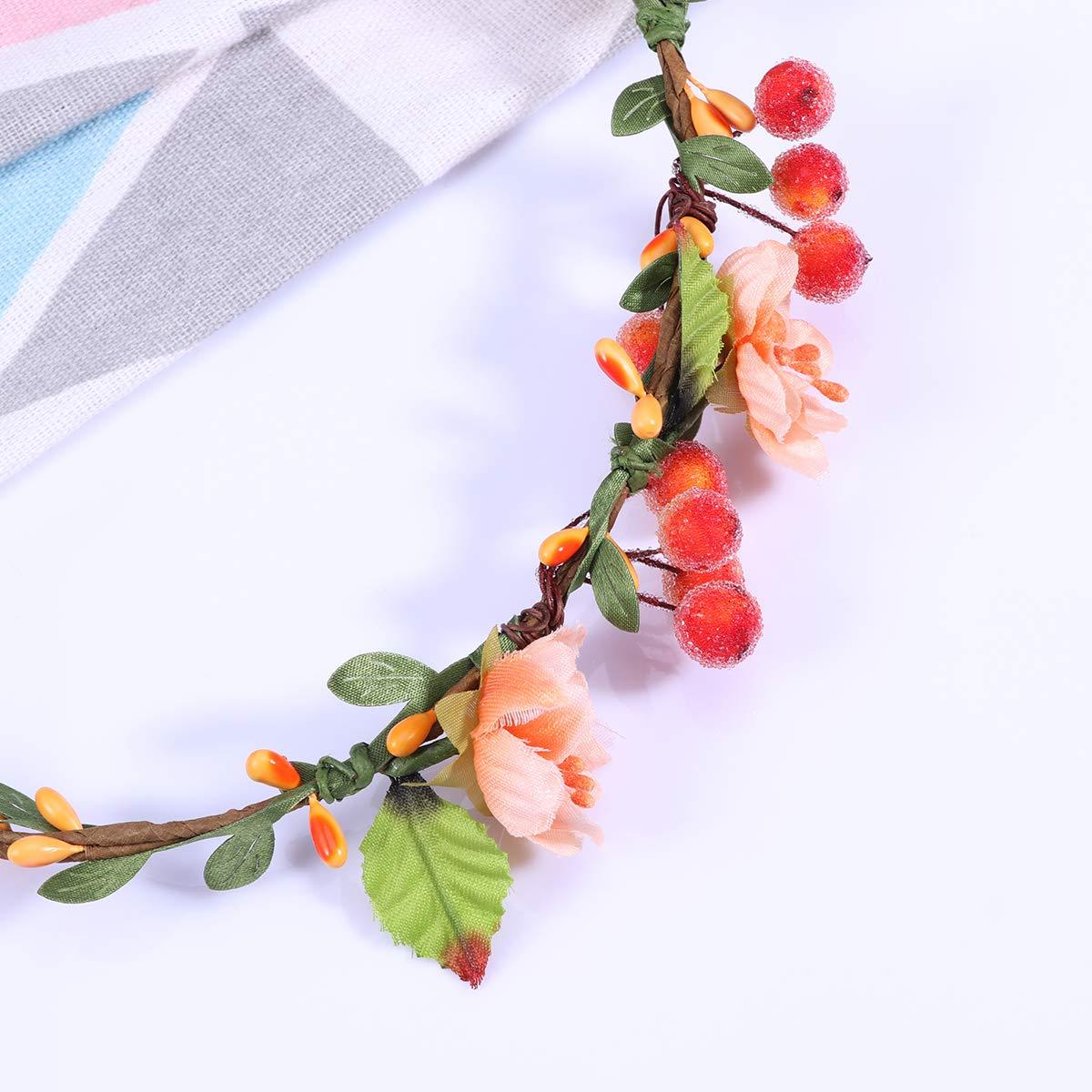 TENDYCOCO Guirnalda Floral Diadema Baya Floral Bucle de Pelo ...