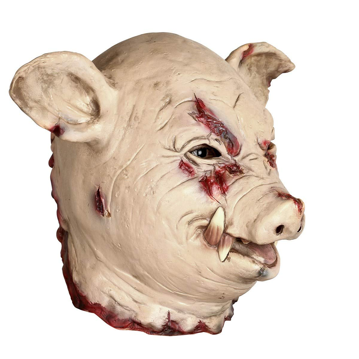 INKERSCOOP Halloween Horror Pig Head Mask Latex Animal Prop Adult Props Clown Mask Head Cover