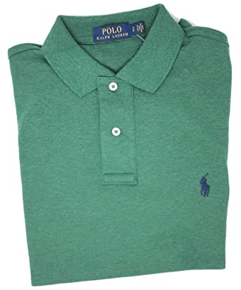 23e84c3bd Polo Ralph Lauren Men Medium Fit Interlock Polo Shirt (M, Green Heather)