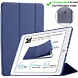 Oaky Case Compatible with iPad Air 3 2019 10.5 inch Translucent Back Case Cover with Auto Sleep/Wake for Air 3rd Generation 2019 [Model - A2152 A2123 A2153 A2154] - Navy Blaue