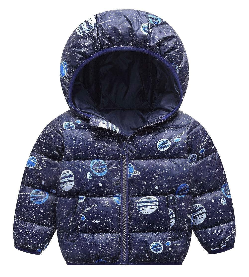 fee460c05043 Happy Cherry Kids Parka Down Jacket Baby Girls Boys Hooded Coat ...