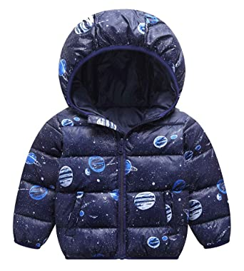 9010a5281 Amazon.com  Happy Cherry Kids Parka Hooded Snowsuit Cotton Thick ...