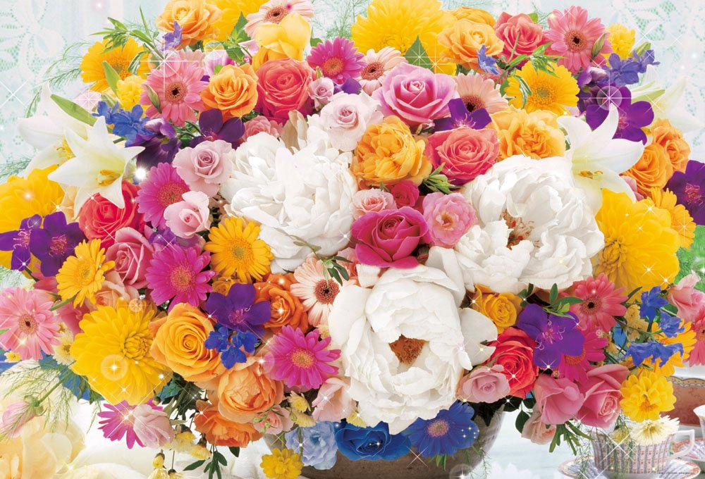 1000ピース ジグソーパズル 幸福を運ぶ ジグソーパズル 七色の花束 1000ピース (49x72cm) 幸福を運ぶ B00B5M1PJW, リシリフジチョウ:73927a62 --- sharoshka.org