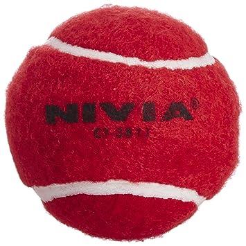 Nivia Heavy Tennis Ball Cricket Ball (Pack Of 6), Red