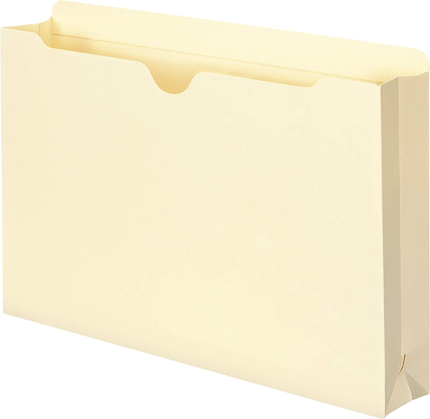 """Smead File Jacket, Reinforced Straight-Cut Tab, 2"""" Expansion, Legal Size, Manila, 50 per Box (76560) : Top Tab File Jackets And Pockets : Office Products"""