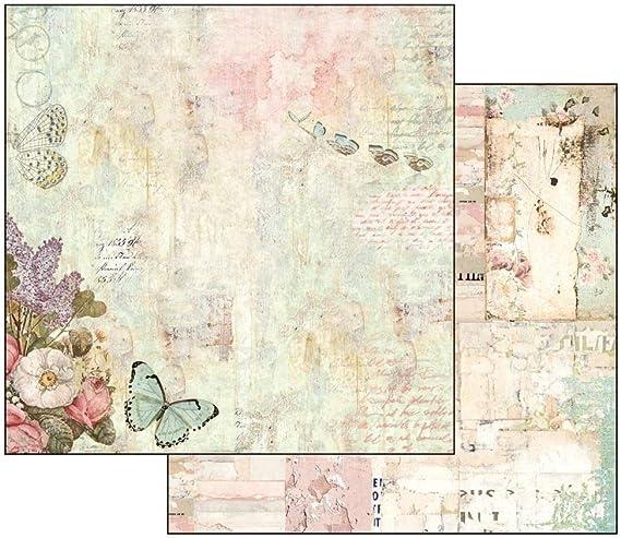 Stamperia Papel Scrap Wonderland Flores Y Mariposas, Multicolor, Talla única: Amazon.es: Hogar