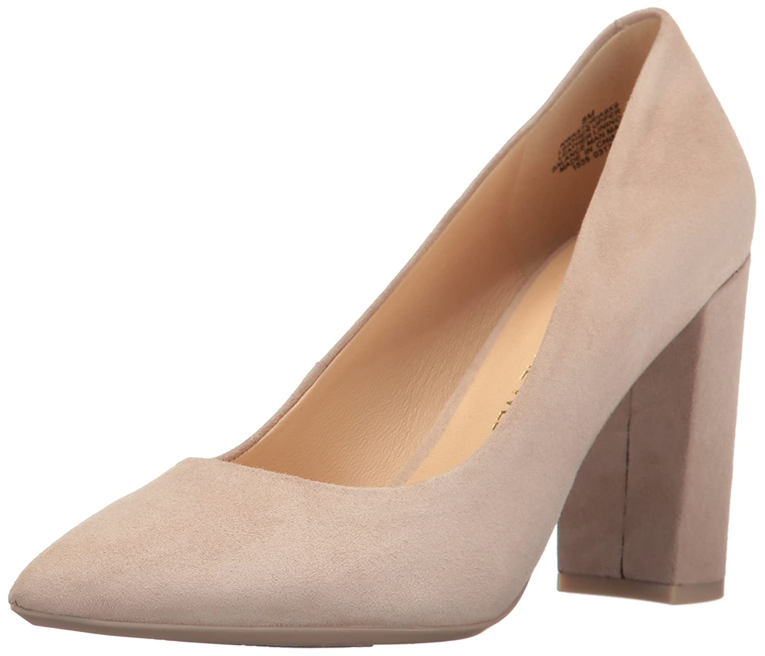 Nine West Women's Astoria Pump B06X3VHVZT 10.5 B(M) US|Light Natural Suede
