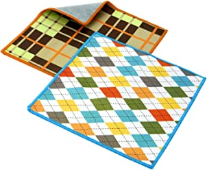 Carson Double Sided Tailored Pattern Microfibre Cleaning Cloths (Pack of 2)