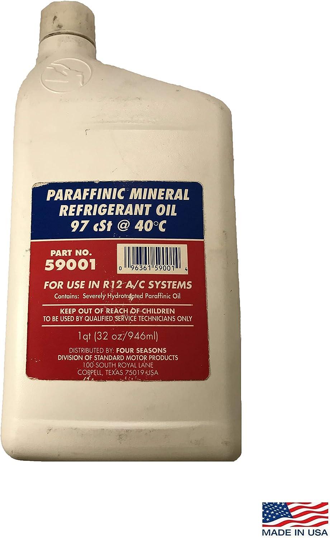 Sherco-Auto Temperature Control Paraffinic Mineral R12 A/C Refrigerant Oil 97 CST @ 40C 1 Quart 59001