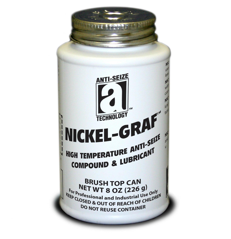 Anti-Seize Technology 13008 Nickel and Graphite Anti-Seize Compound Paste, 8 oz, Gray