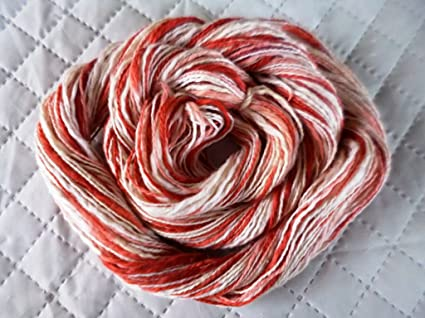 Amazoncom Candy Cane Red White 100 Cotton Thick Thin Fingering