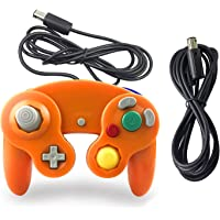 Gamecube Controller, AreMe 1 Pack Classic Wired Controller with Extension Cable for Nintendo Wii Gamecube GC Console (Orange)