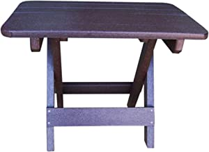 Phat Tommy Recycled Poly Resin Folding Side Table – Durable & Eco-Friendly. This Patio Furniture is Great for Your Adirondack Chair, Lawn, Garden, Swimming Pool, Deck.