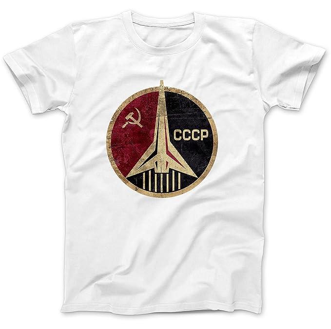 Bees Knees Tees CCCP Russian Soviet USSR T-Shirt Cotton: Amazon.es ...