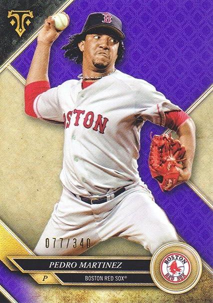 2017 Topps Triple Threads Amethyst//340 #93 Pedro Martinez Boston Red Sox Card