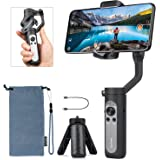 Hohem iSteady X Foldable 3-Axis Gimbal Stabilizer for Smartphone, 0.5lbs Lightweight Handheld Phone Gimbal Youtuber…