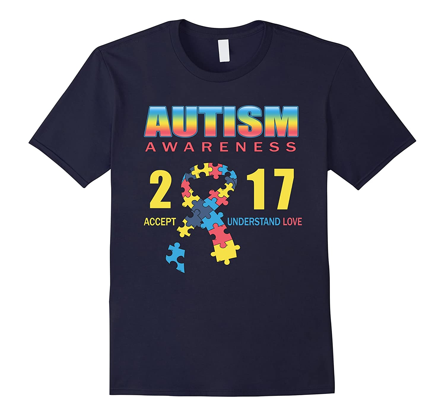 Autism Awareness 2017 T Shirt  5 colors choice-TD