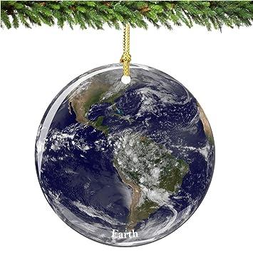 Image Unavailable - Amazon.com: City-Souvenirs NASA Earth Christmas Ornament, Porcelain
