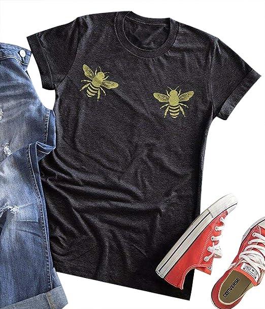 Amazon.com: BANGELY Boo Bees Graphic - Camiseta para mujer ...