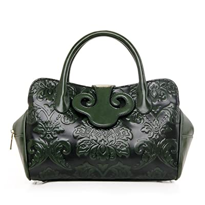 43dd2e1a7fcd AnKoee Floral Collection Women's PU Leather Top Handle Handbag Tote ...