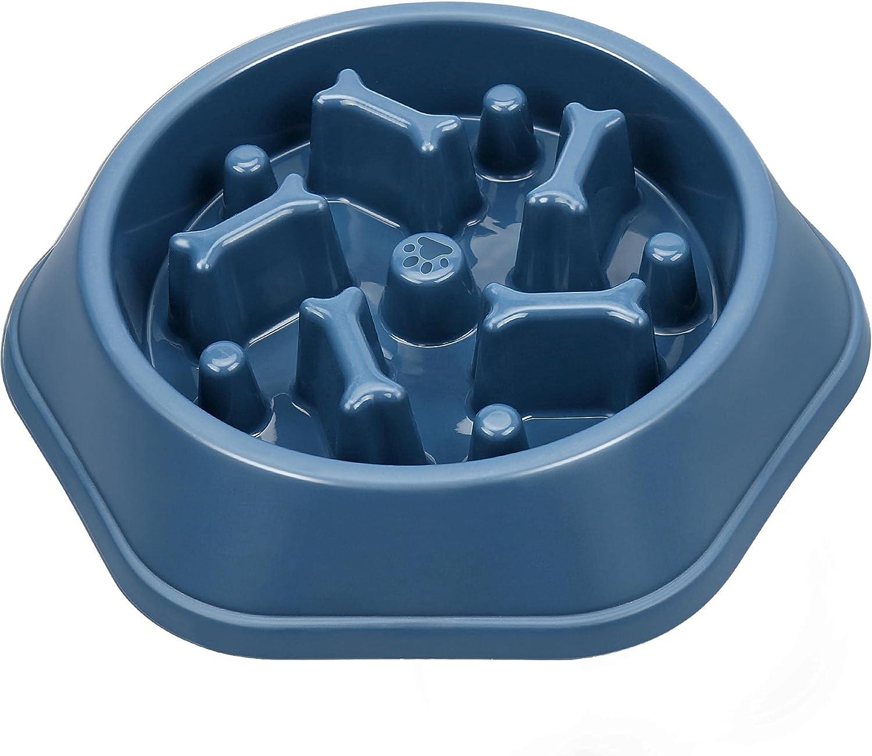 UPSKY Slow Feeder Dog Bowl Anti-Chocking Dog Feeder Bone Pattern Interactive Dog Food Bowl Non-Slide Healthy Design Dog Lick Bowl for Small Medium Dogs