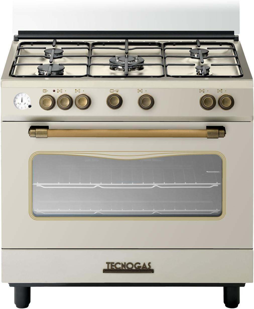 Tecnogas Traditionnel Cocina de gas retro, color crema, 90 x 60 cm: Amazon.es: Hogar