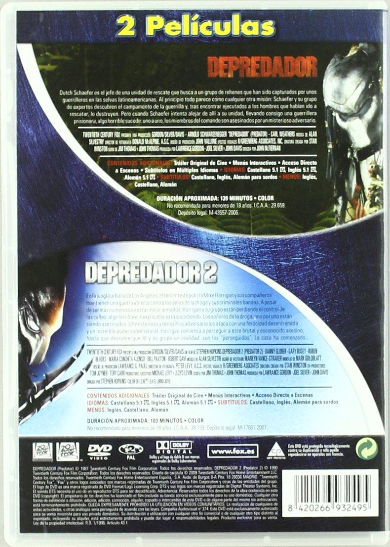 Depredador 1 + 2 [DVD]: Amazon.es: Elpidia Carrillo, Carl Weathers, Arnold Schwarzenegger, Kevin Peter Hall, Danny Glover, Gary Busey, Rubén Blades, ...