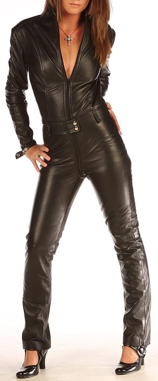 cde3da511e71 Skin Tight Suit Black Leather Catsuit Jumpsuit Tight 1235 (28