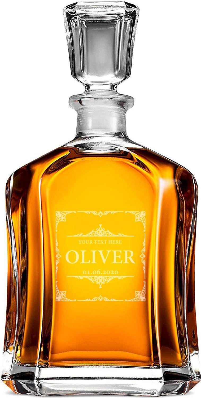 Decantador de whisky personalizado tama/ño 700ml inauguraci/ón de la casa regalo de boda personalizado padrino de boda regalos para /él