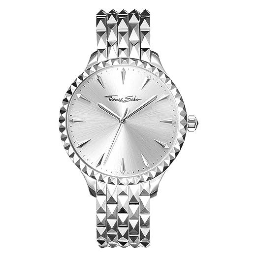 Thomas Sabo Reloj para mujer Rebel at Heart Plata WA0318-201-201-38