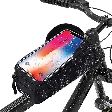 BAONUOR - Bolsa para Cuadro de Bicicleta, Bolsa para Manillar de ...