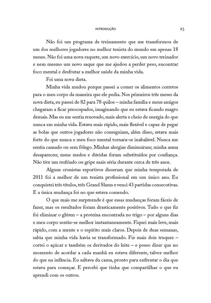 Sirva Para Vencer: A Dieta Sem Gluten Para a Excelencia Fisica e Mental: Novak Djokovic: 9788563993908: Amazon.com: Books