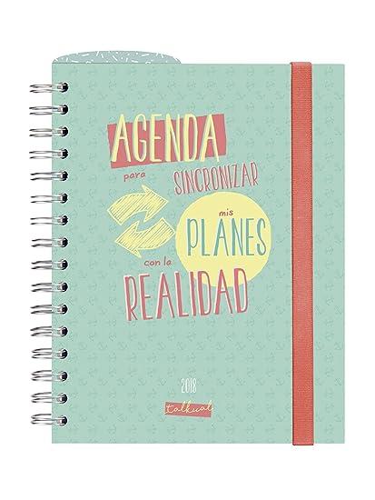 Finocam Talkual - Agenda 2018, semana vista apaisada, español, 155 x 215 mm, 80 g/m²