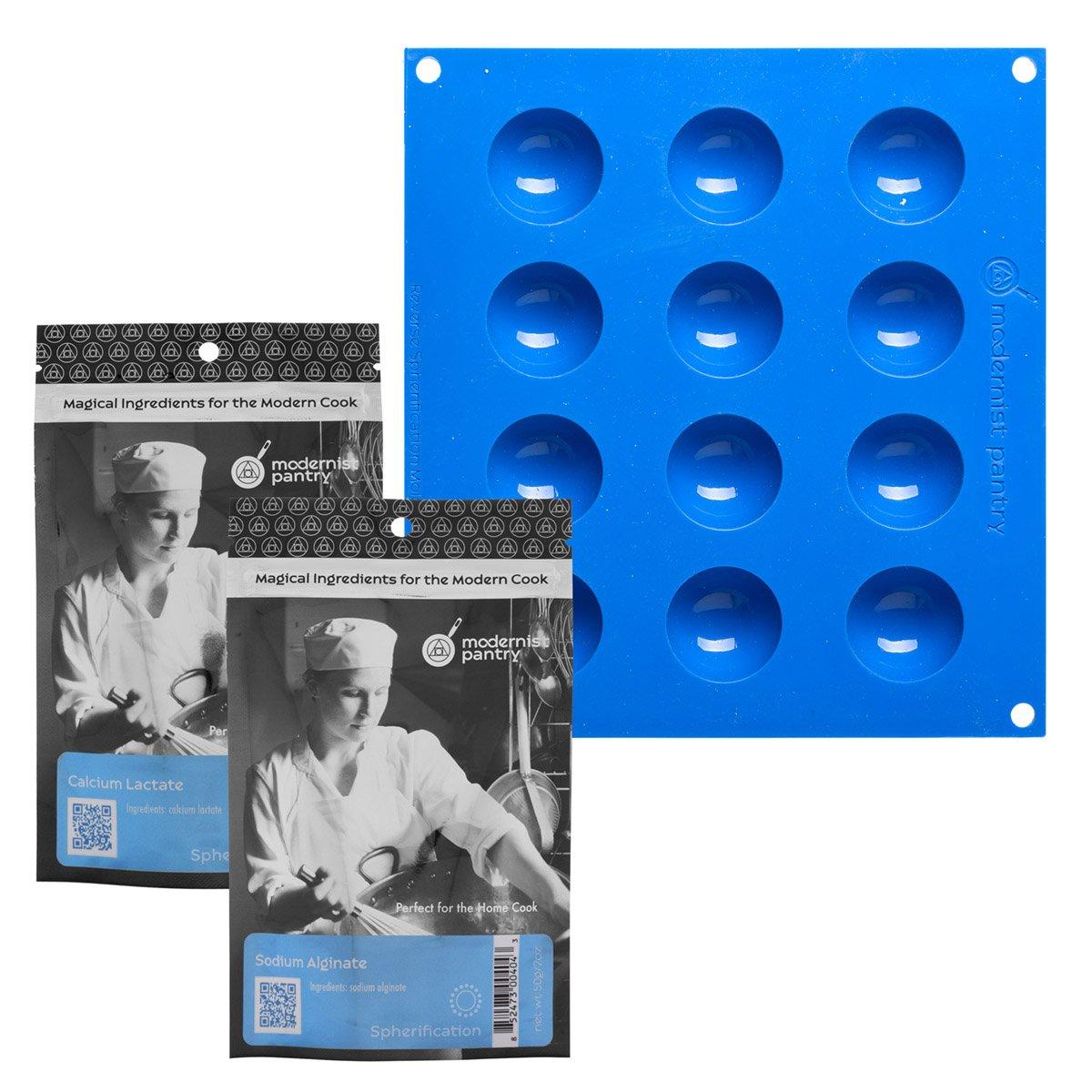 Reverse Spherification Kit (Molecular Gastronomy) ⊘ Non-GMO ❤ Gluten-Free ☮ Vegan ✡ OU Kosher Certified Ingredients