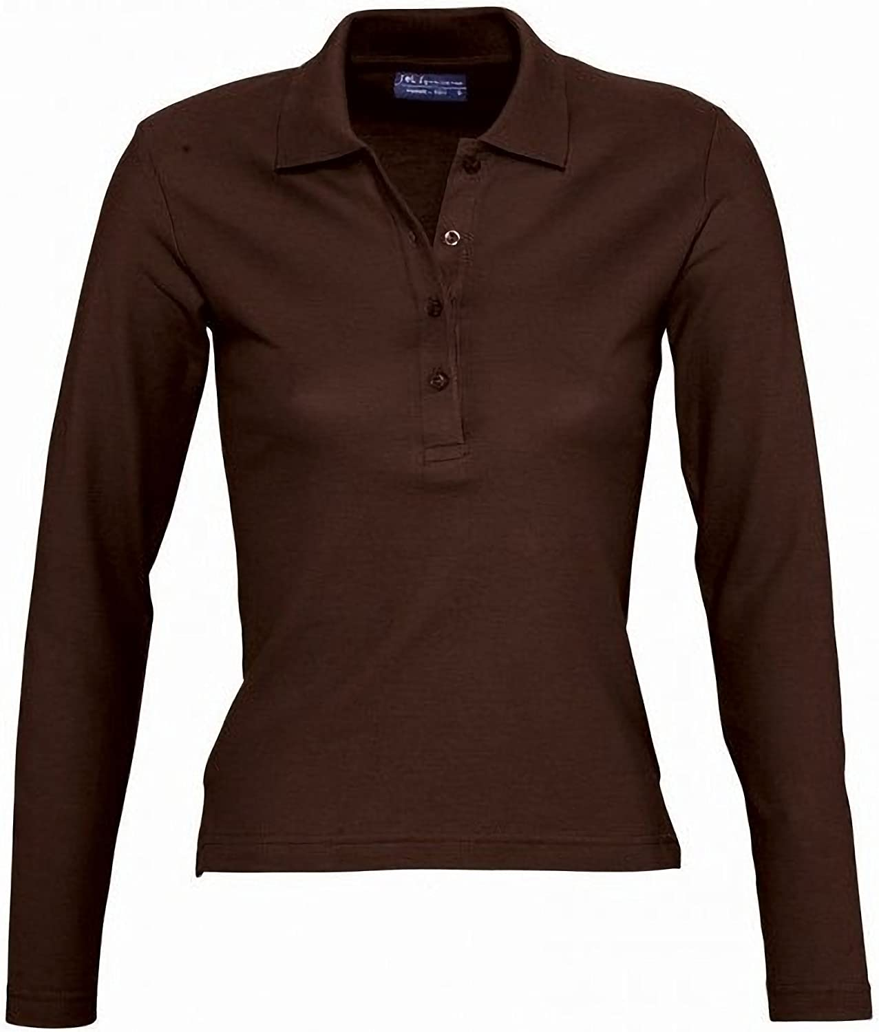 SOLS Podium Damen Pique Polo-Shirt Langarm