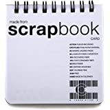 Upcycled ScrapBook CardBook - 10-pack - (3.5 x 3.5 inches) Top-Bound Notebook Upcycled From Scrap Material.